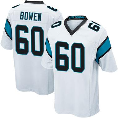 Men's Nike Carolina Panthers Branden Bowen Jersey - White Game