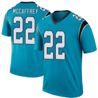 Men's Nike Carolina Panthers Christian McCaffrey Color Rush Jersey - Blue Legend
