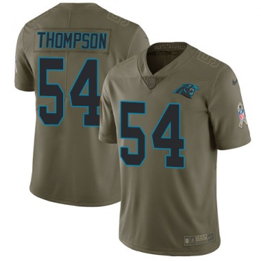 Men's Nike Carolina Panthers Shaq Thompson 2017 Salute to Service Jersey - Olive Limited