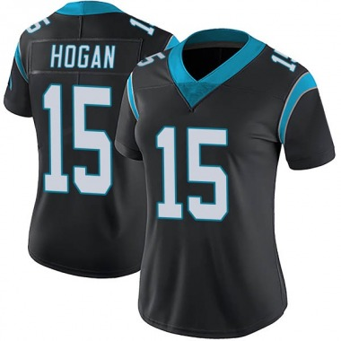 Women's Nike Carolina Panthers Chris Hogan Team Color Vapor Untouchable Jersey - Black Limited