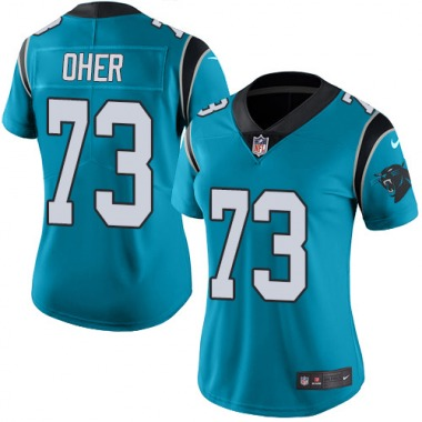 Women's Nike Carolina Panthers Michael Oher Color Rush Jersey - Blue Limited
