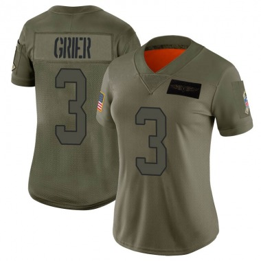 Women's Nike Carolina Panthers Will Grier 2019 Salute to Service Jersey - Camo Limited