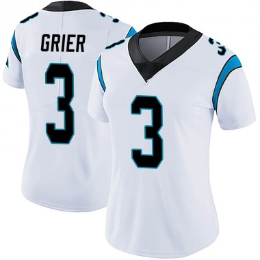 Women's Nike Carolina Panthers Will Grier Vapor Untouchable Jersey - White Limited