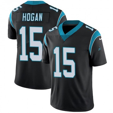 Youth Nike Carolina Panthers Chris Hogan Team Color Vapor Untouchable Jersey - Black Limited