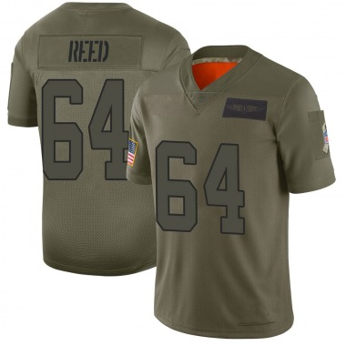 Youth Nike Carolina Panthers Chris Reed 2019 Salute to Service Jersey - Camo Limited