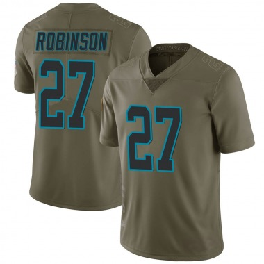 Youth Nike Carolina Panthers Kenny Robinson 2017 Salute to Service Jersey - Green Limited