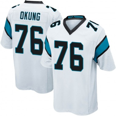 Youth Nike Carolina Panthers Russell Okung Jersey - White Game