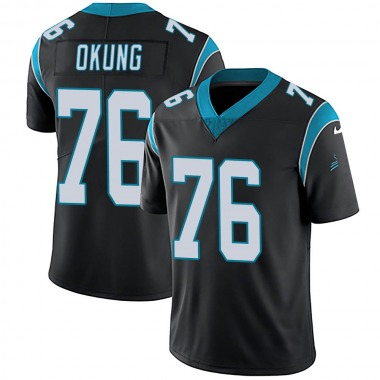Youth Nike Carolina Panthers Russell Okung Team Color Vapor Untouchable Jersey - Black Limited