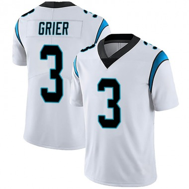 Youth Nike Carolina Panthers Will Grier Vapor Untouchable Jersey - White Limited
